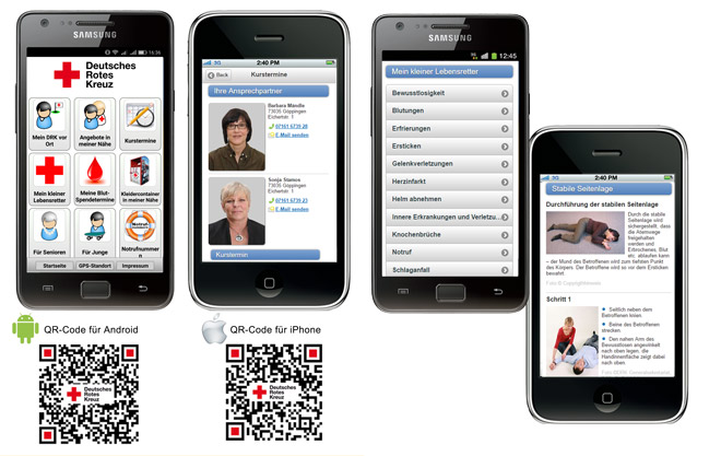 [Translate to Deutsch, leichte Sprache:] QR-Codes für iPhone- und Android-Geräte