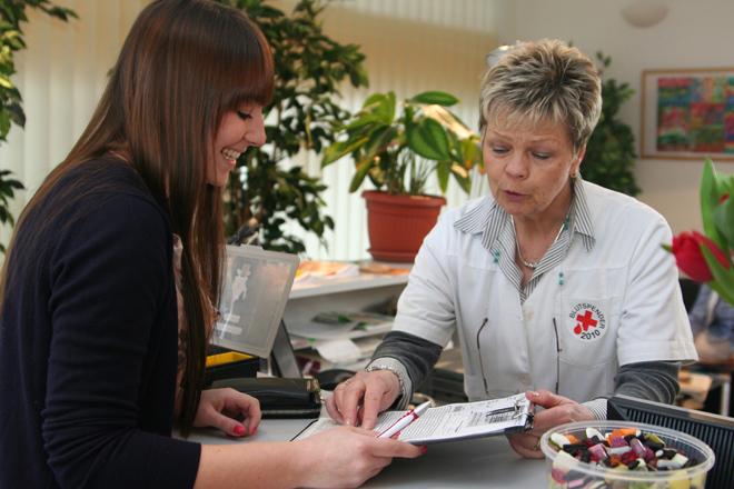 Ablauf einer Blutspende